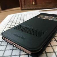 Original iPhone 6  6S Extreme Brushed Alloy Effect  Smart Book Case Black