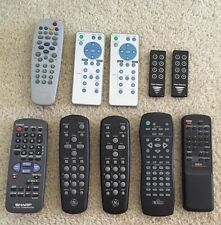 Tv/Vcr, Projector, and Other Devices remote control lot of 10