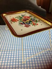 Vintage Tray Table Better Ware Floral Retro Great Condition Camper Picnic