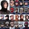 Unisex Men Women Winter Beanie Hat Baggy Warm Wool Ski Scarf Cap Fleece Lined