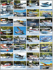 INTERNATINAL SEAPLANE FLY-IN GREENVILLE MAINE AIRCRAFT POSTER 2016