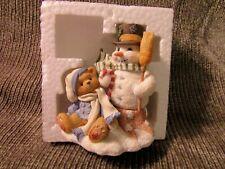 """Cherished Teddies """"Mitch"""" With Snowman *Friendship Never Melts Figurine"""