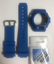 CASIO Original G-Shock Watch Band DW-6900 DW-6900MM-2 Blue Strap + BEZEL DW6900