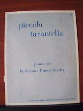 Piccola Tarantella by Berenice Benson Bentley - 1944 sheet music - Piano Solo