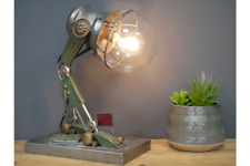 Metal Industrial Steampunk Desk Table Robot Lamp Light & LED Bulb Portable