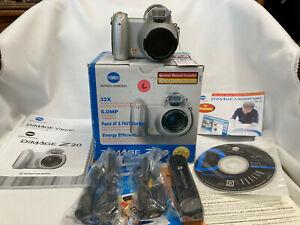 Konica Minolta DiMAGE Z20 5.0MP Digital Camera - Complete In Box