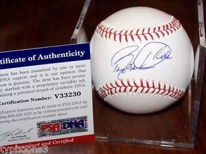 BARRY LARKIN (Cincinnati Reds) signed baseball w/ PSA COA