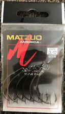 50 Matzuo 104010 104012 Wide Gap Worm Fish Fishing Hooks size 3/0
