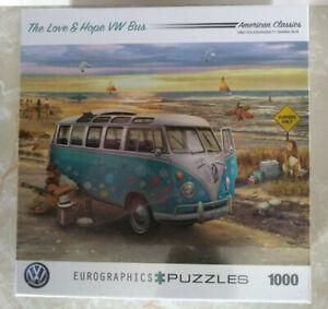 1963 VW Van The Love And Hope Bus 1000 Piece Puzzle Eurographics Volkswagen NEW