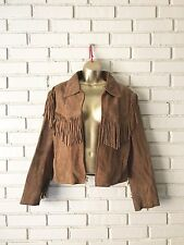 Vintage G-III Suede Leather Fringe Western Jacket Coat Size M Medium G 3 Cowgirl