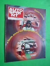AUTOSPRINT 1972/51-52 Abarth Osella Gethin Mass Fiat 126 +domenica sprint