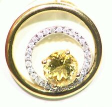 1.61ct 14k ORO NATURAL AMARILLO Emerald Berilio Diamante De Compromiso