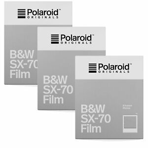 Polaroid Originals SX70 B&W Film TRIPLE Pack (24 Shots)