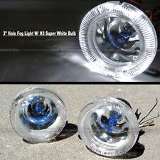 "For S10 3"" Round Super White Halo Bumper Driving Fog Light Lamp Compl Kit"