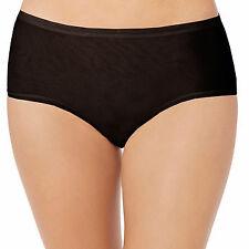 OnGossamer Women's Brief Modern Mesh Panty NEW Black NWT Size Large