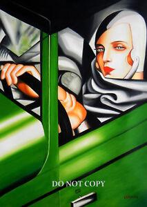 ART DECO TAMARA DE LEMPICKA (BUGATTI) 1920s 30s A4 GLOSSY PHOTO POSTER PRINT #1