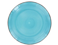 "Lots 8 Royal Norfolk Turquoise Swirl Stoneware 10½"" Dinner Plates Free Shipping"