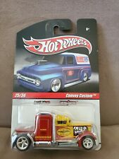 Hot Wheels CONVOY CUSTOM Red & Yellow SEMI w/RR DELIVERY Pennzoil. Protecto Pak.