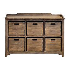 Rustic Vintage Antique Style Storage Bin Hobby Cabinet Cupboard Six Drawer Wood