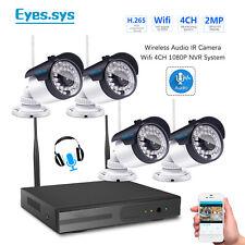 Eyes.sys 4pcs Audio HD 36IR 2MP Wireless CCTV Camera 1080P Sound WIFI NVR System