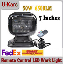 50W Wireless LED Auto Search Spot Light Remote Control Worklight Lamp 12V