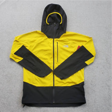 The North Face Mens Summit L4 Windstopper Hooded Jacket Yellow Color Block L New