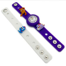 Moshi Monsters Charm Watch Interchangable Straps Katsuma White Purple Kids