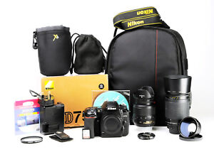 Nikon D7500 DSLR Camera & Dual Lens Kit  AF-S 18-55mm VR & AF 70-300mm Boxed EXC