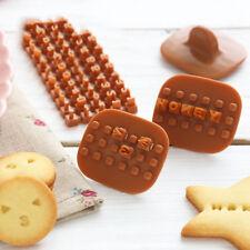 Alphabet Letter Biscuit Cookie Cutter Press Stamp Embosser Cake Mould Baking DIY