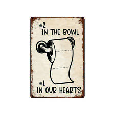Metal Tin Sign in the bowl in our hearts for Bar Pub Home Vintage Retro Poster