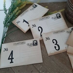 Travel themed wedding accesories, table numbers tea stained 1-10