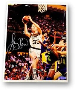 Larry Bird Signed Autographed 8X10 Photo Boston Celtics vs Lakers UDA Upper Deck