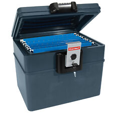 File Chest with Key Lock Water and Fire Protector Home Safety Storage Safe Box