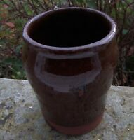 EARLY LARGE  GEORGIAN TREACLE GLAZE APOTHECARY JAR -THIN STRING RIM