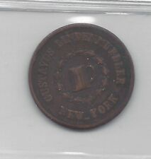 *1863*Usa, Civil War Token, Coin Mart Graded*Ef-45*