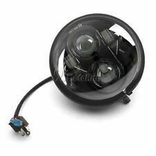 5.75 LED Black Headlight + Housing For Harley Dyna Glide Fat Bob Street Bob