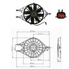 Dual Rad & Cond Fan Assembly Fits: Dodge Dakota L4 V6 & V8 Please see Chart