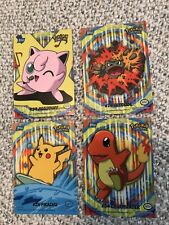Lot of 4 - Topps Pokemon TV Animation Edition Series 2 Puzzle Backs Sticker