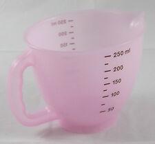 Tupperware Kleiner Messbecher 250 ml Pink Rosa Transparent / Braun Neu OVP