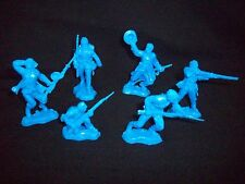 1/32 Civil War Fighting Feds Toy Soldiers, 54MM plastic 12 in 6 poses - Blue