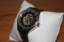 Rotary Men's Two Tone Rose Gold Skeleton Strap Automatic Watch GS03715/04