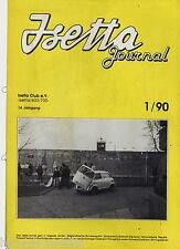 BMW Isetta Journal 1990 1/90 Technik Kleinwagentreffen England Marokko München