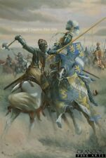Medieval War military Art post Card Battle of Bannockburn Robert The Bruce