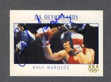 Raul Marquez signed 1992 U.S. Olympic card