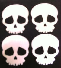 IRON ON REFLECTIVE SMALL SKULS X 4 tape TRANSFER decal