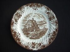 JOHNSON BROTHERS - ENGLISH COUNTRY LIFE (BROWN) DESSERT PLATE