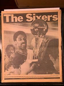 1983 (6/2) Sixers NBA Champs Philadelphia Daily News 20 Pg Supplement RARE GOOD
