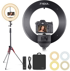 """LED Ring Light 18"""" with Tripod Stand Phone Holder for Live Stream 480 LEDs Alloy"""