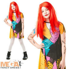 Sally Finkelstein Girls Fancy Dress Nightmare Before Christmas Doll Kids Costume