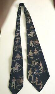 Vintage Countess Mara Cowboy Tie 40-50's Great Graphics